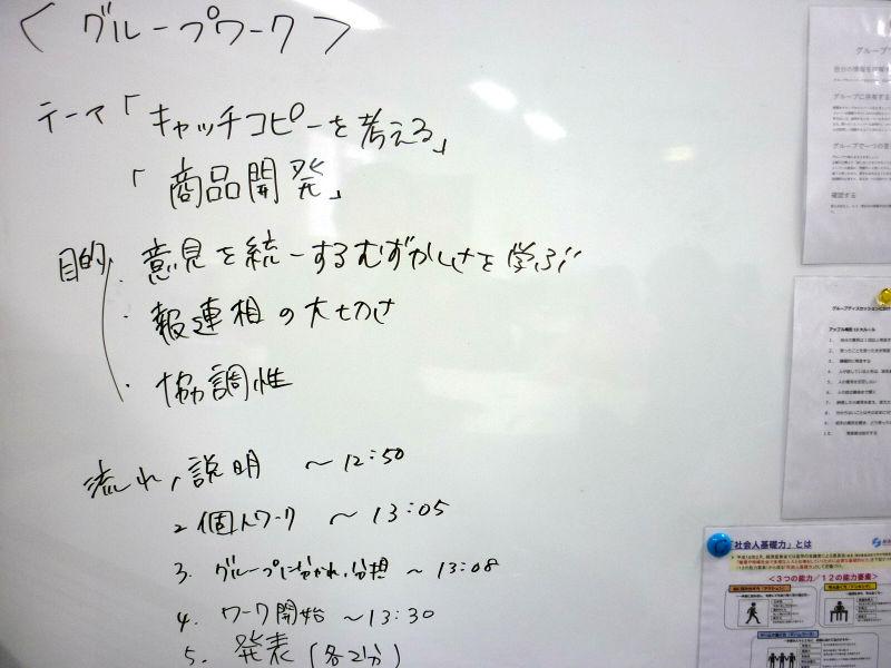 【グループワーク】商品開発とキャッチコピー